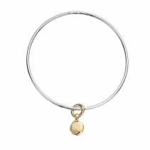 Silver & Gold Mini Disc Bangle