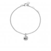 Silver Mini Disc Chain Bracelet