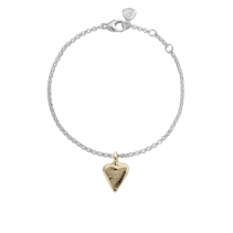 Silver & Gold Mini Heart Chain Bracelet