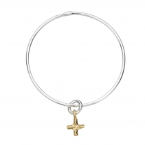 Silver & Gold Mini Kiss Bangle