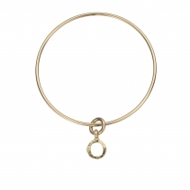 Gold Mini Open Circle Bangle