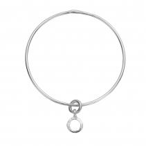 Silver Mini Open Circle Bangle