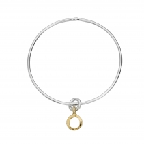 Silver & Gold Mini Open Circle Bangle