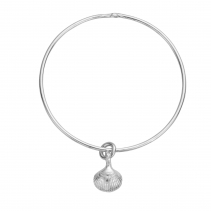 Silver Mini Shell Bangle