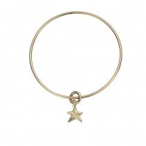 Gold Mini Star Stack Bangle