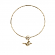 Gold Mini Turtle Dove Bangle