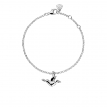 Silver Mini Turtle Dove Chain Bracelet