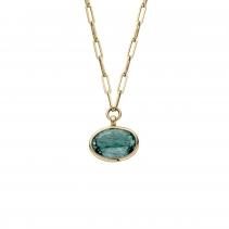 MIRA Gold Aquamarine Star Necklace