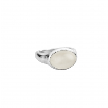 Silver Moonstone Treasure Ring