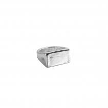 Silver Rectangle Signet Ring