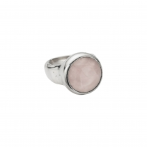 Silver Rose Quartz Mood Ring