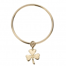 Gold Large Shamrock Bangle