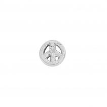 Silver Little Peace Single Ear Charm