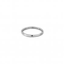 Silver Simple Wedding Band