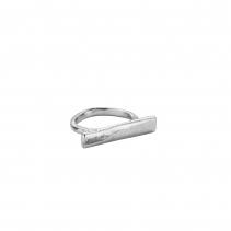 Silver Small Bar Ring