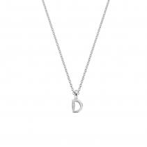 Silver Alphabet Charm Necklace
