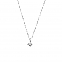 Silver Baby North Star Necklace