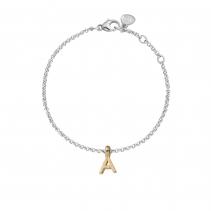 Silver & Gold Alphabet Chain Bracelet