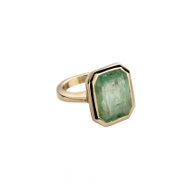 THEIDA Gold Emerald Ring