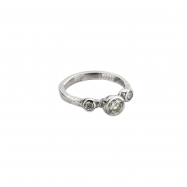 Cinderella Platinum Trio Diamond Ring