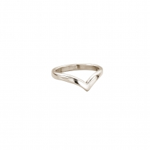White Gold Ladies Wishbone Wedding Band