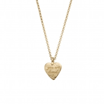 Gold Medium You Are Loved Necklace