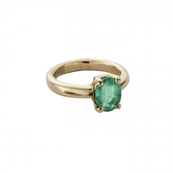 AIDA Gold Emerald Claw Ring