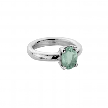 AINA OMA Silver Emerald Claw Ring