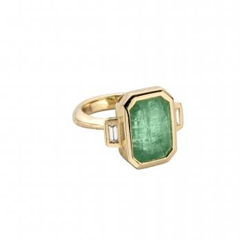 ALINA Gold Emerald & Diamond Ring