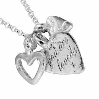 Silver A Lot Of Love Necklace detailed