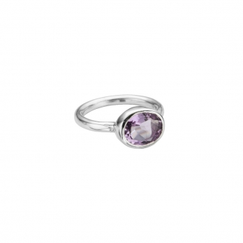Silver Amethyst Baby Treasure Ring
