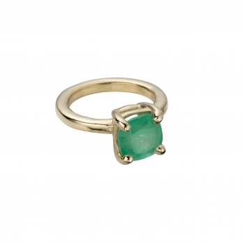 AMIRA Gold Oval Claw Ring