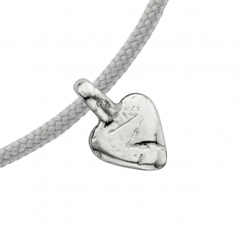 Silver Baby Heart Sailing Rope detailed