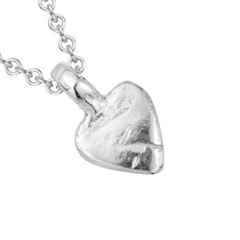 Silver Baby Heart Necklace detailed
