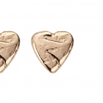 Rose Gold Baby Heart Stud Earrings detailed