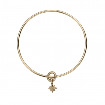 Gold Baby North Star Bangle