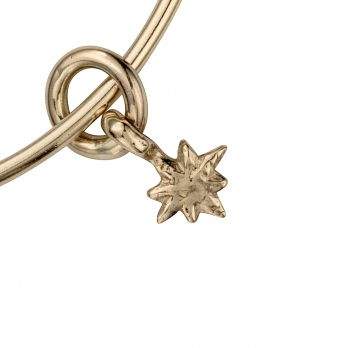 Gold Baby North Star Bangle detailed