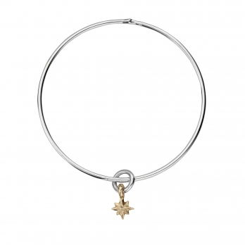Silver & Gold Baby North Star Bangle