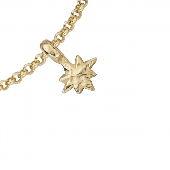 Gold Baby North Star Chain Bracelet detailed