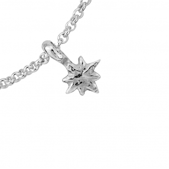 Silver Baby North Star Chain Bracelet detailed