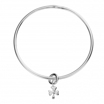 Silver Baby Shamrock Mini Bangle