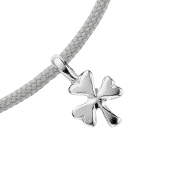 Silver Baby Shamrock Sailing Rope detailed