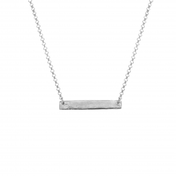 Silver Mens Bar Necklace