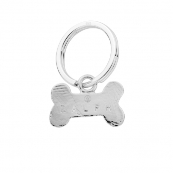 Silver Bone Dog Tag