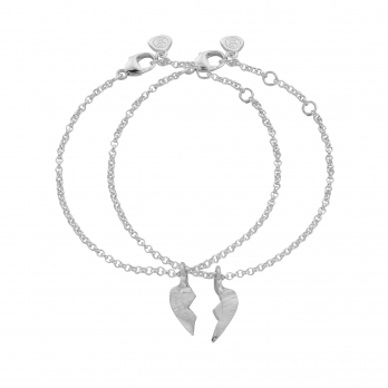 Mini BF Split Heart Chain Bracelets