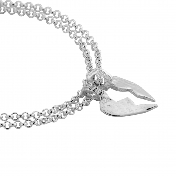 Mini BF Split Heart Chain Bracelets detailed