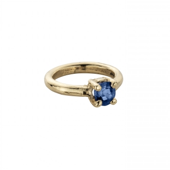 CAERULA MAR Blue Sapphire Gold Claw Ring