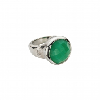 Silver Chrysoprase Mood Ring