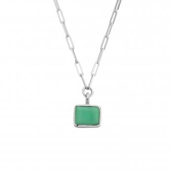 Portofino Chrysoprase Trace Chain Necklace