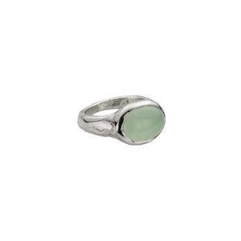 Silver Chrysoprase Treasure Ring